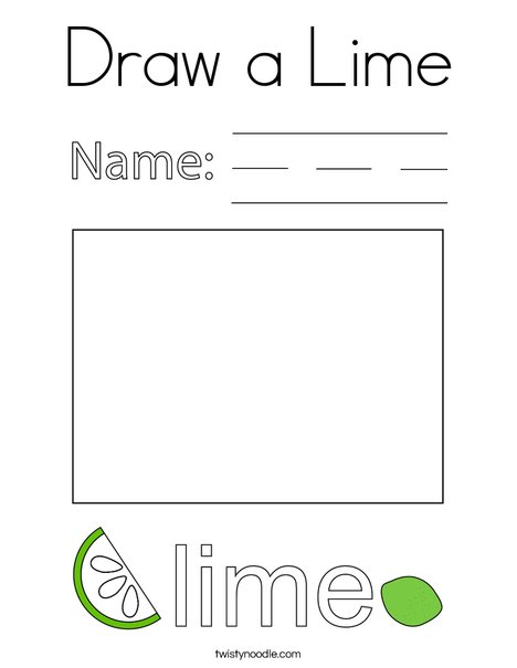 Draw a Lime Coloring Page