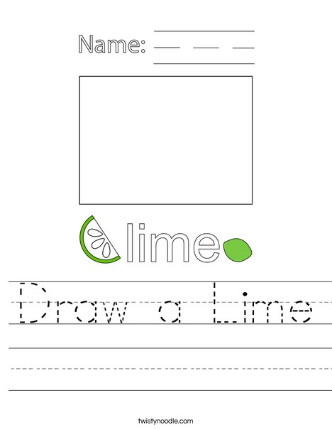 Draw a Lime Worksheet