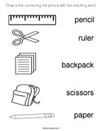 School Supplies Coloring Sheets - Coloring Home | 186x144
