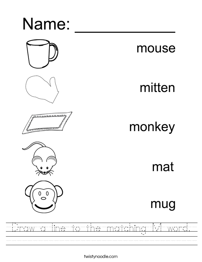 Letter M Worksheets - Twisty Noodle