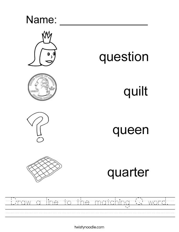Tracing Letter Q Worksheet