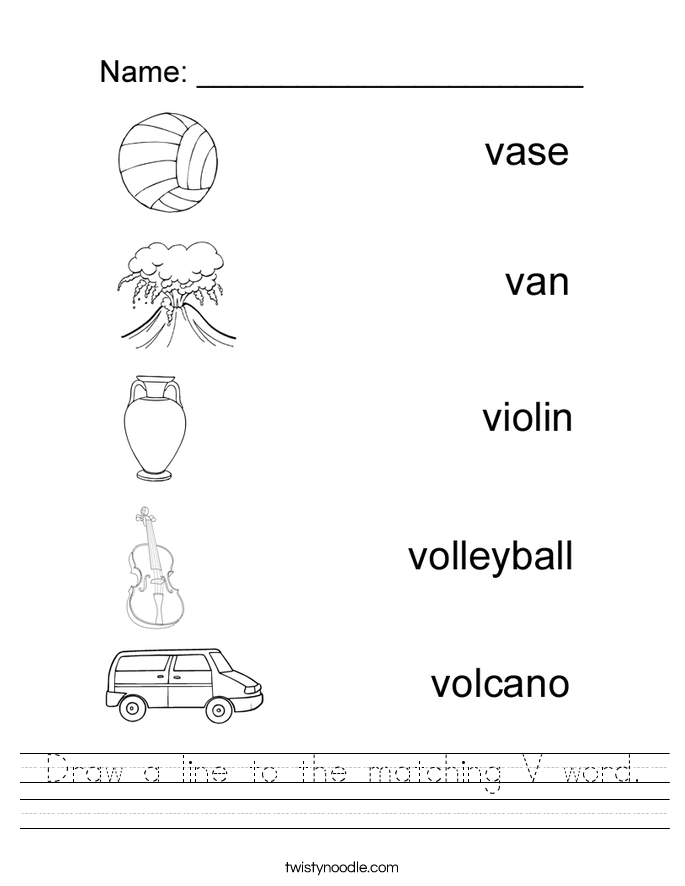 Letter V Worksheets