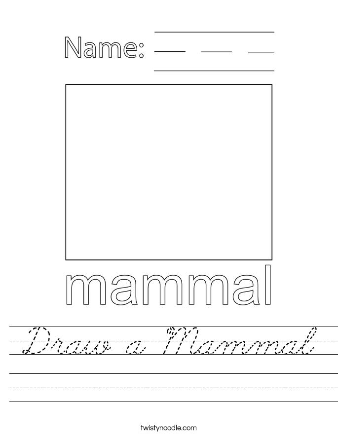 Draw a Mammal Worksheet