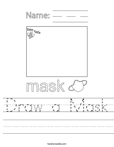 Draw a Mask Worksheet