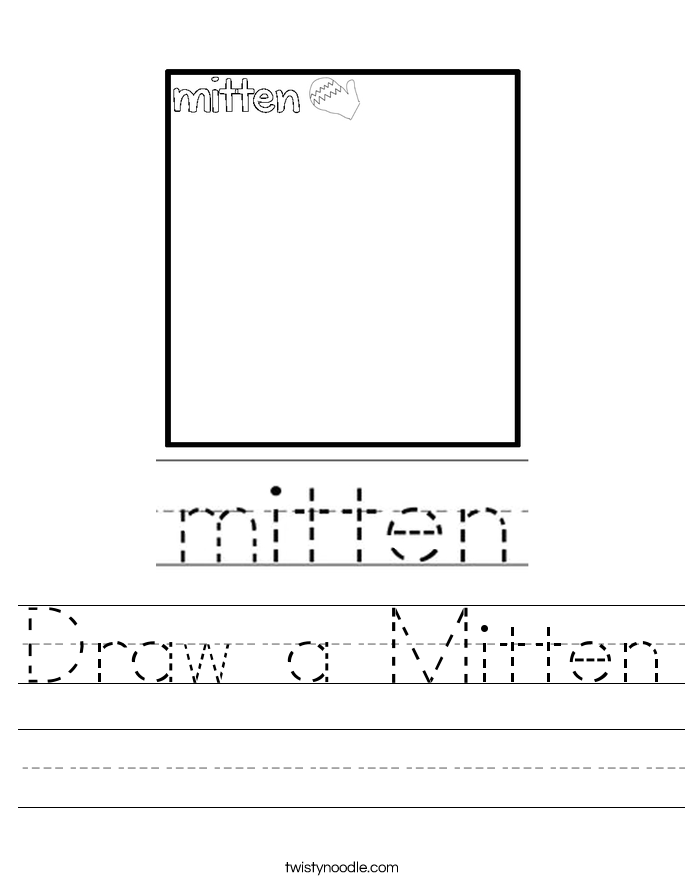 Draw a Mitten Worksheet