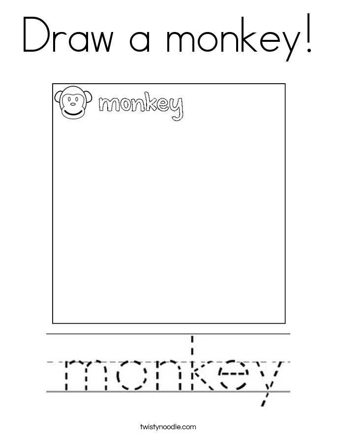 Draw a monkey! Coloring Page