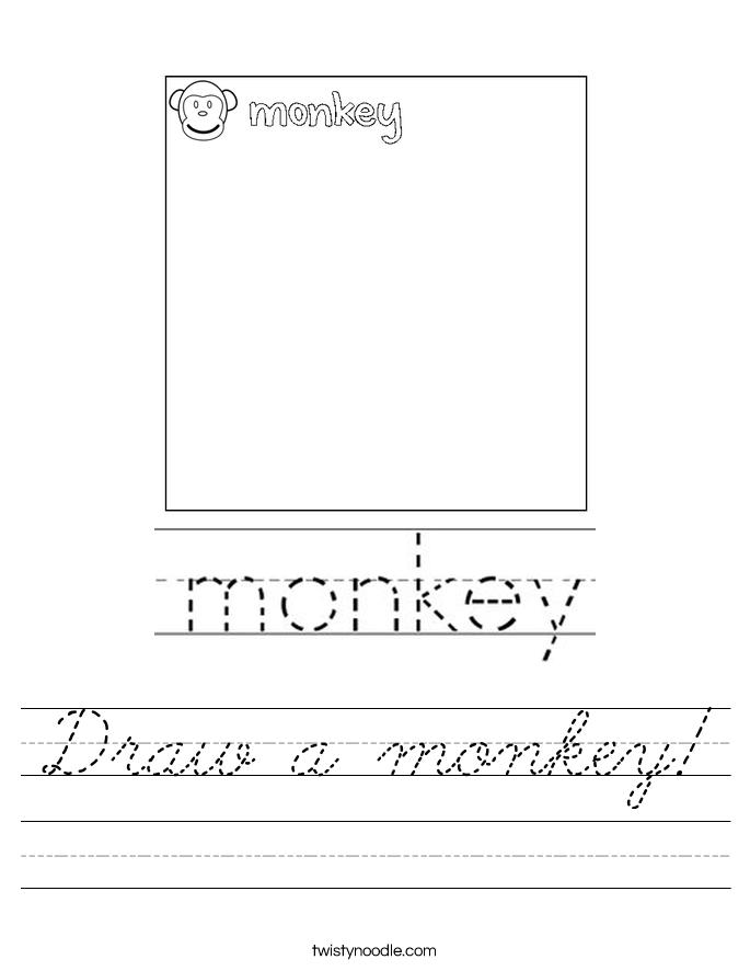 Draw a monkey! Worksheet