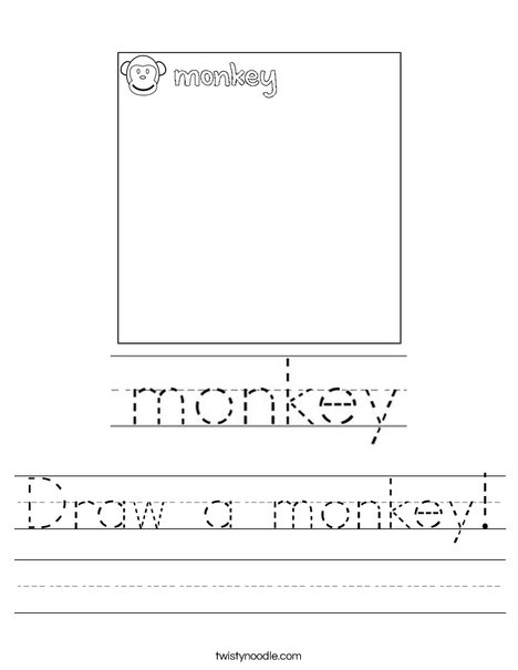 Draw a monkey! Worksheet