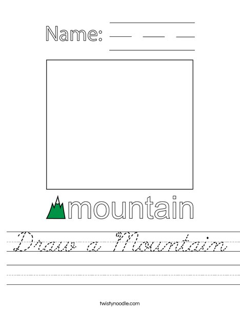 Draw a Mountain Worksheet