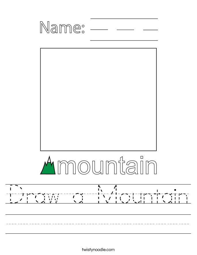 Draw a Mountain Worksheet