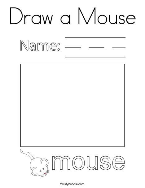 Draw a Mouse Coloring Page