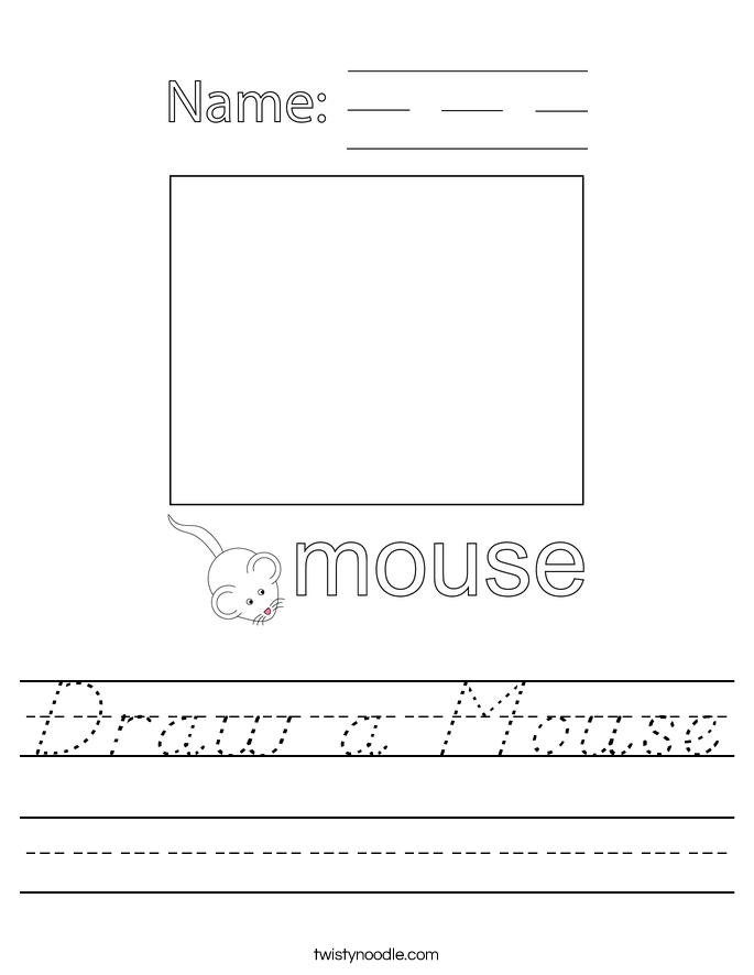Draw a Mouse Worksheet
