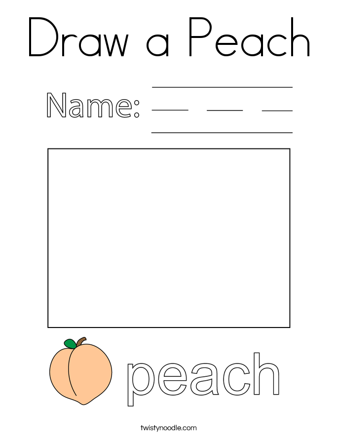 Draw a Peach Coloring Page