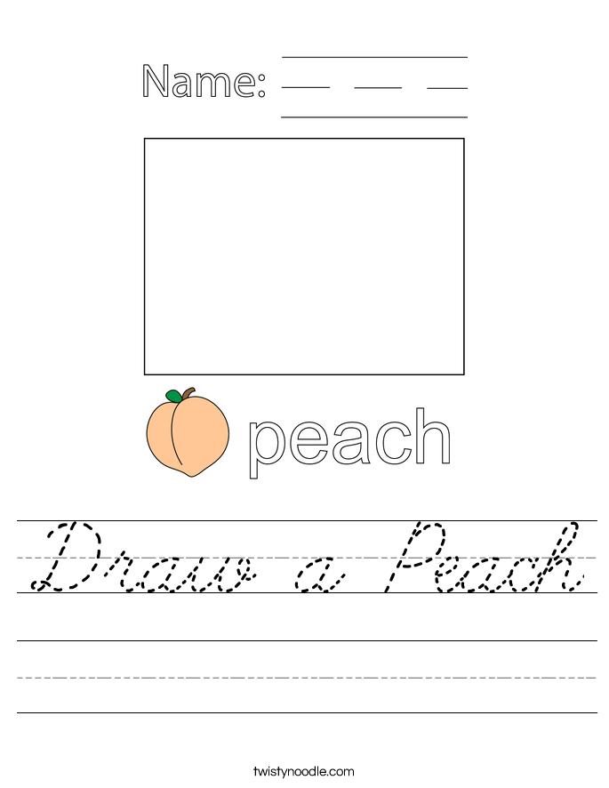 Draw a Peach Worksheet