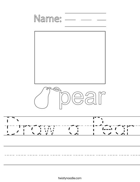 Draw a Pear Worksheet