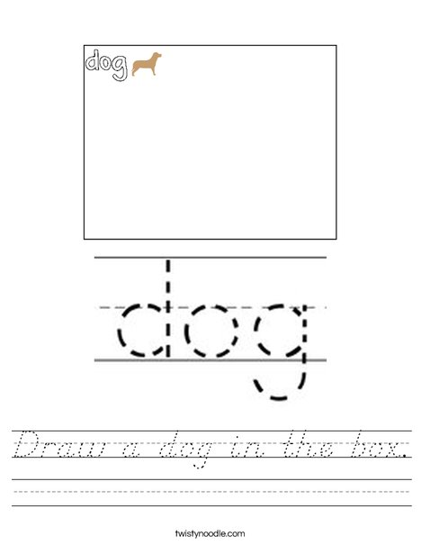 Draw a picture of a dog. Worksheet