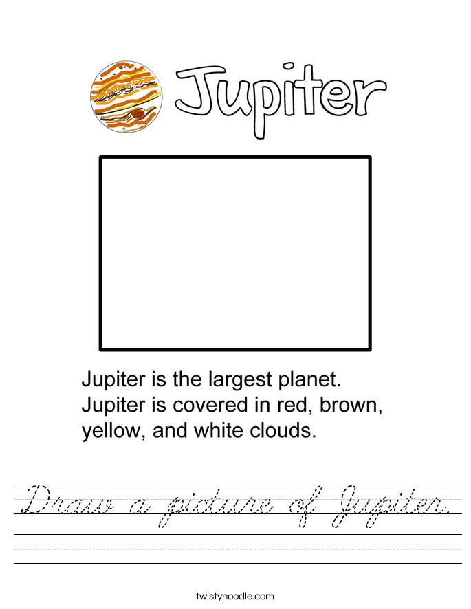 Draw a picture of Jupiter. Worksheet