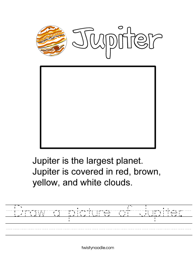 Draw a picture of Jupiter. Worksheet