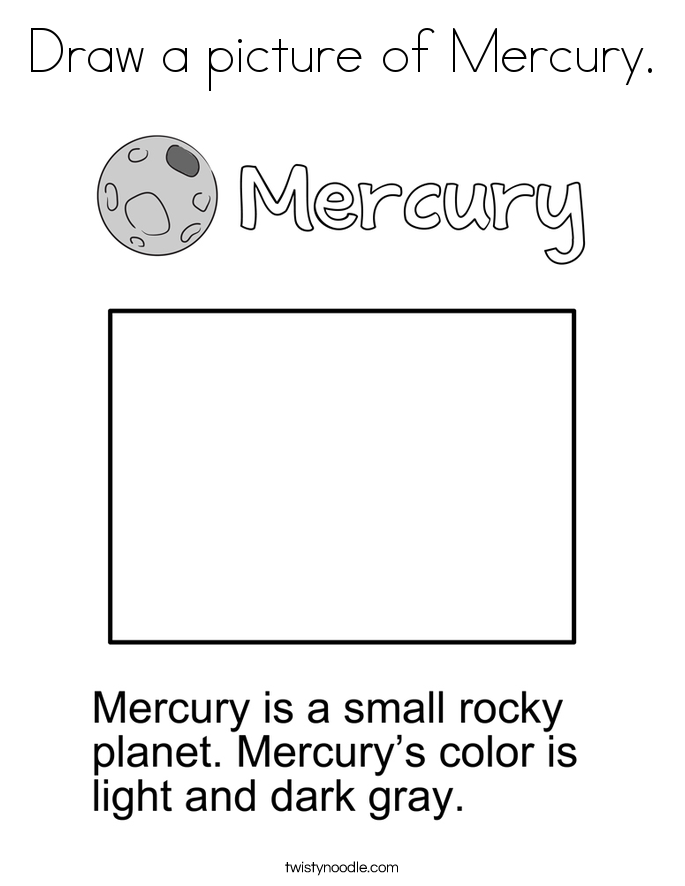 Draw a picture of Mercury. Coloring Page