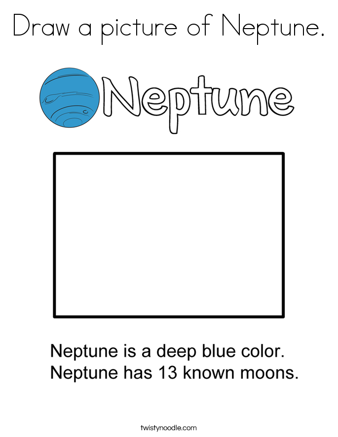 Draw a picture of Neptune. Coloring Page
