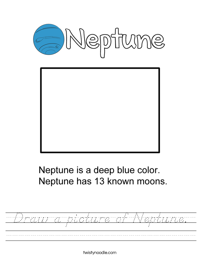 Draw a picture of Neptune. Worksheet