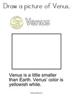 Draw a picture of Venus Coloring Page