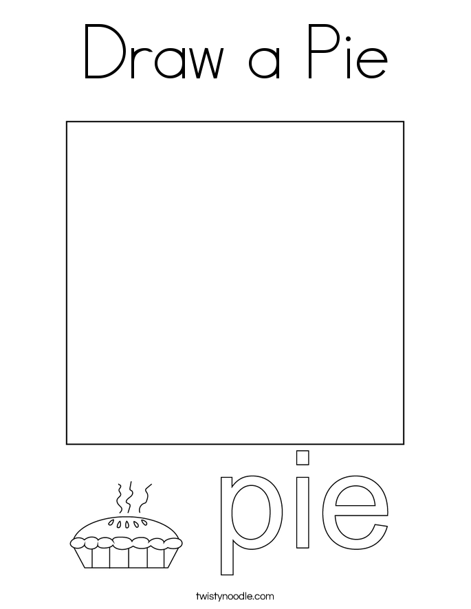 Draw a Pie Coloring Page