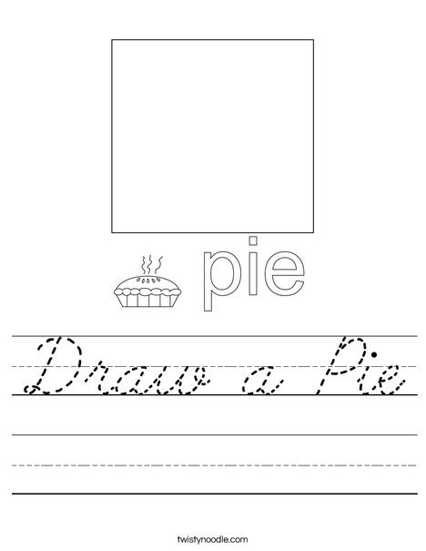 Draw a Pie Worksheet