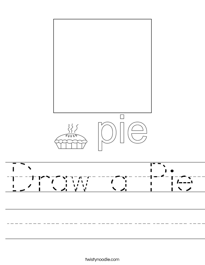 Draw a Pie Worksheet