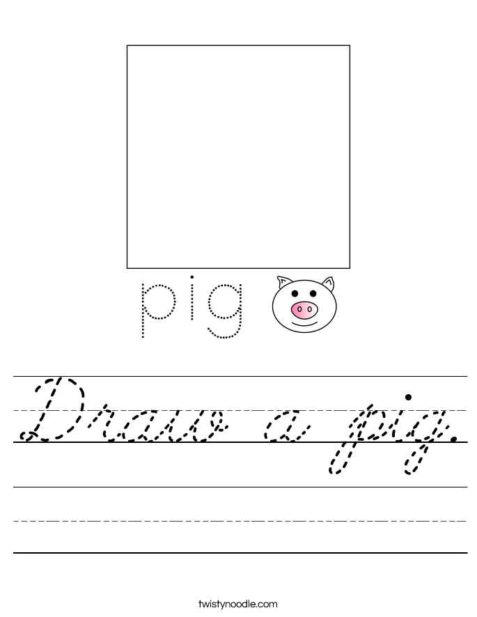 Draw a pig. Worksheet
