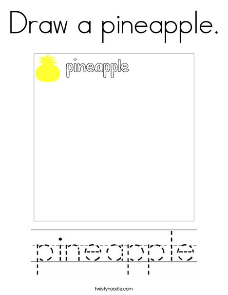 Draw a pineapple. Coloring Page
