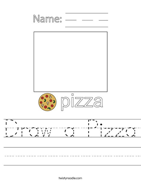Draw a Pizza Worksheet