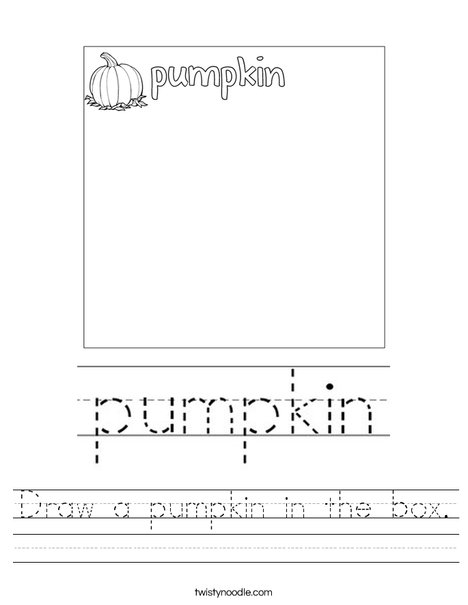 Draw a pumpkin in the box. Worksheet