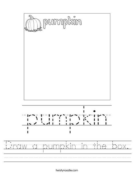 Draw a pumpkin in the box. Worksheet