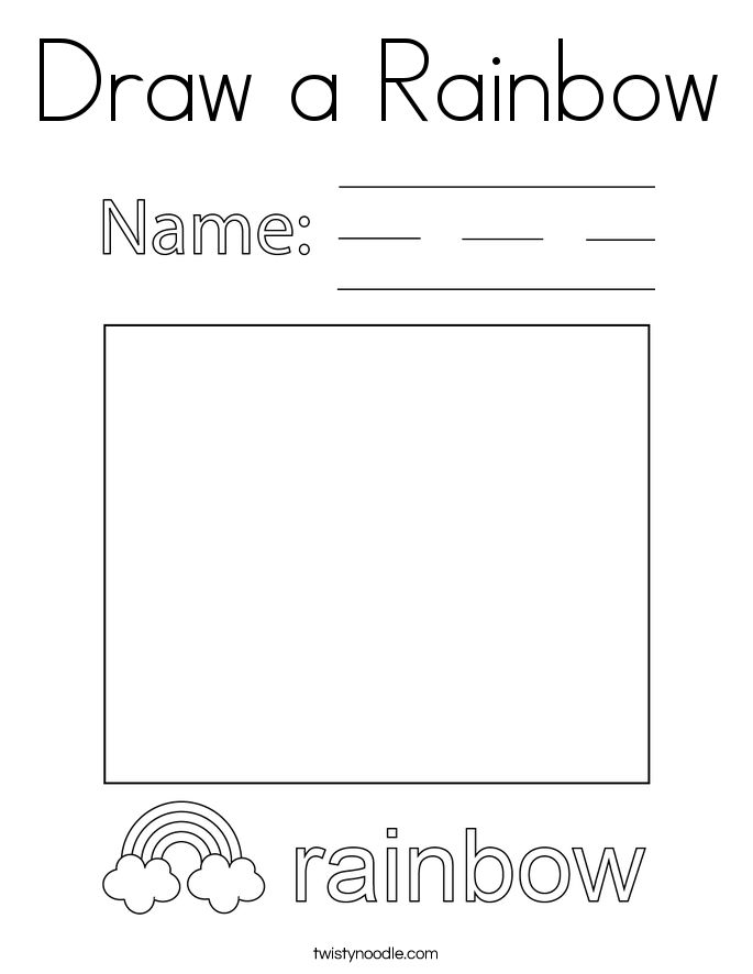 Draw a Rainbow Coloring Page