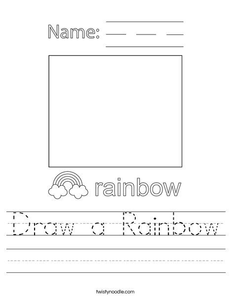 Draw a Rainbow Worksheet