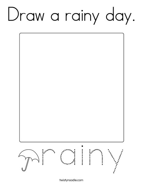 Draw a rainy day. Coloring Page