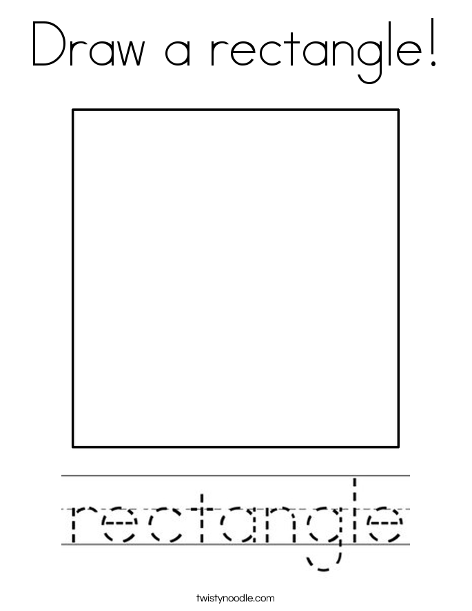 Draw a rectangle! Coloring Page
