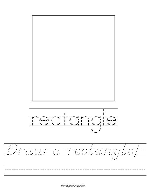 Draw a rectangle! Worksheet