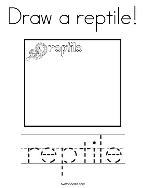 Draw a reptile! Coloring Page