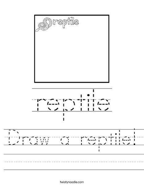 Draw a reptile! Worksheet