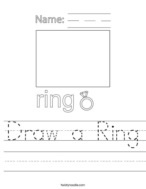 Draw a Ring Worksheet