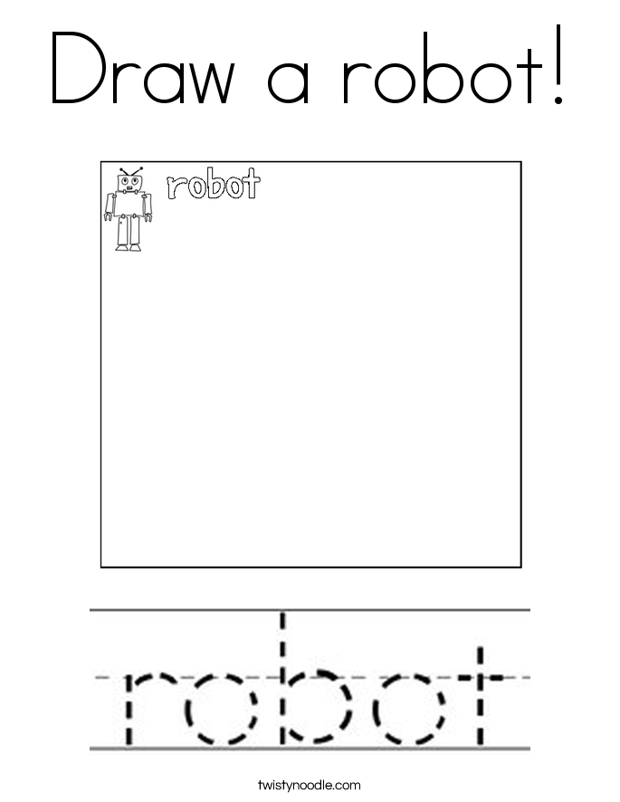 Draw a robot! Coloring Page