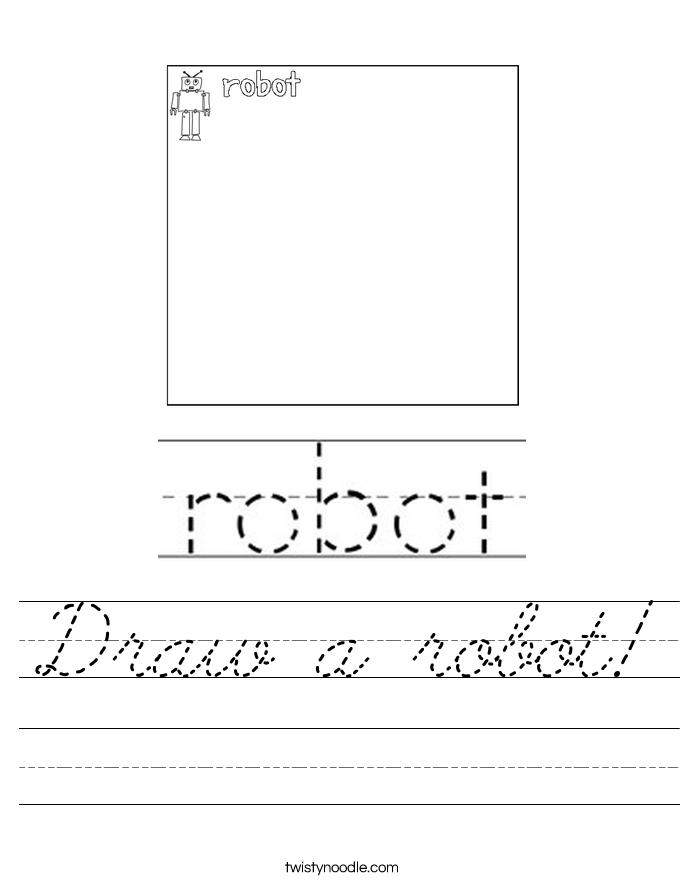 Draw a robot! Worksheet