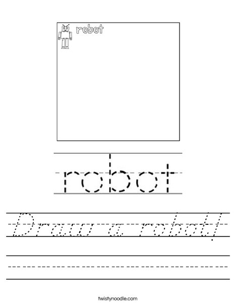 Draw a robot! Worksheet
