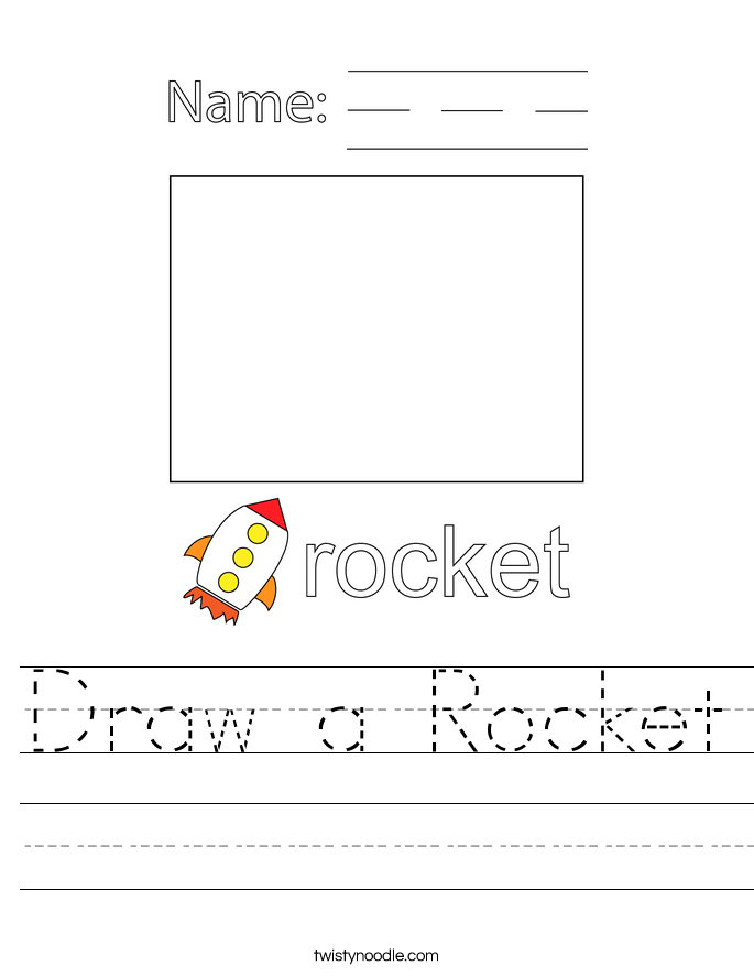 Draw a Rocket Worksheet