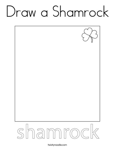Draw a Shamrock Coloring Page