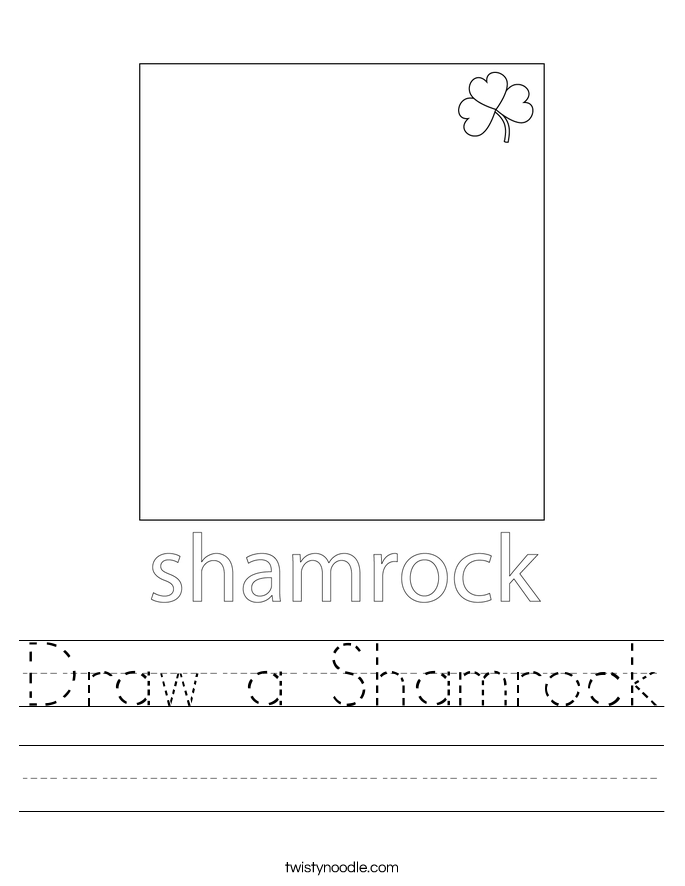 Draw a Shamrock Worksheet