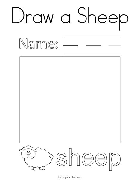 Draw a Sheep Coloring Page