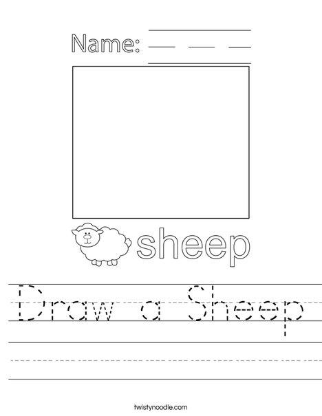 Draw a Sheep Worksheet